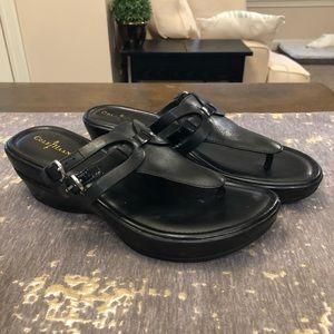 Cole Haan Black Air Melisa Thong Sandals